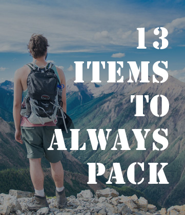 13 items to always pack - long term travel essentials