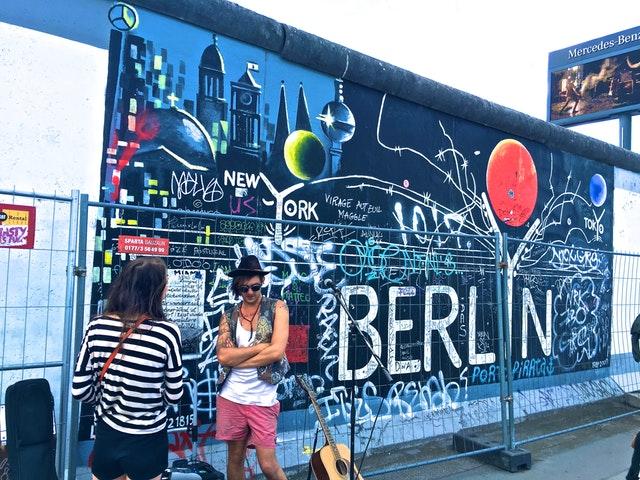 The Berlin Wall - Solo Travel in Berlin - Alone in Berlin at night