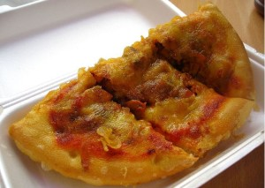 Deep Fried Pizza - Scotland Long Term Travel