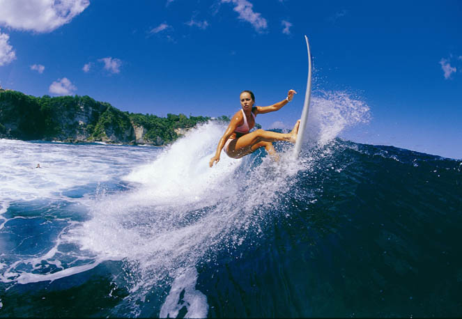 Great surfing in Bali