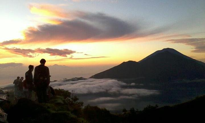 The view from the top of Mt Batur